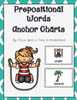 Prepositional Words Anchor Chart