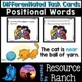 Prepositions Positional Words Picture Task Cards