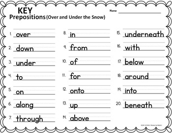 Prepositions Task Cards - FREE
