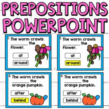 Prepositions No Prep PowerPoint for Grades 1 and 2