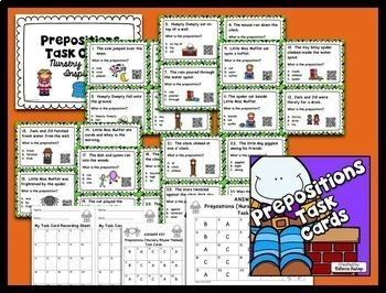 Prepositions Task Cards $$$ Savings BUNDLE for Grades 2-3