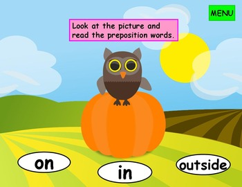 Positional Words Kindergarten First Grade