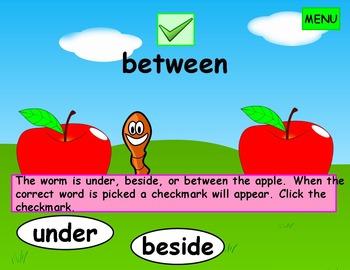 Prepositions Kindergarten First Grade