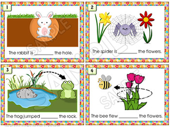 Illustrated PREPOSITION Task Cards