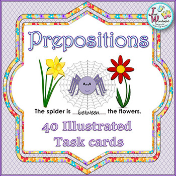 Prepositions - Position - Illustrated Task Cards