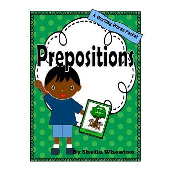 Prepositions:  A Working Words Packet for Young Readers
