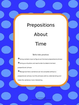 Prepositions About Time