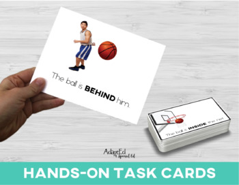 Prepositions: Adapted Book Basketball Edition Special Education Autism Speech