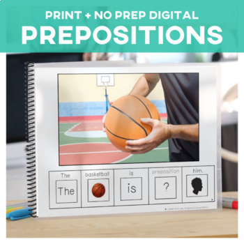 Prepositions: Adapted Book Basketball Edition Special Educ