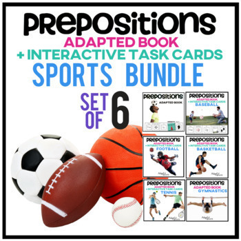 Prepositions: Adapted Book Sports BUNDLE