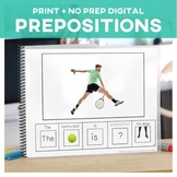 Prepositions: Adapted Book Tennis