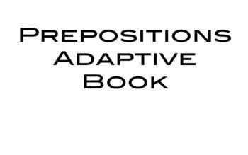 Prepositions Adaptive Book