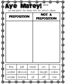 Prepositions- Ahoy There!
