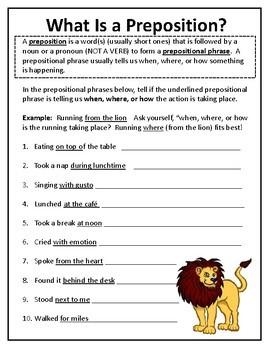 Prepositions Are Fun!