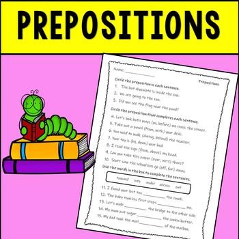 Prepositions Assessment