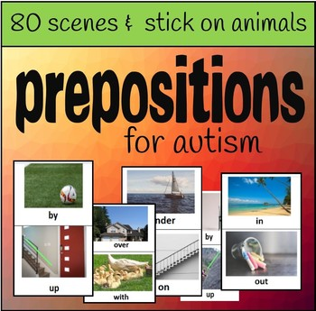 Prepositions Activities for Autism (80 scenes for matching)
