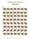 Prepositions Bear Hunt FREE Cutouts