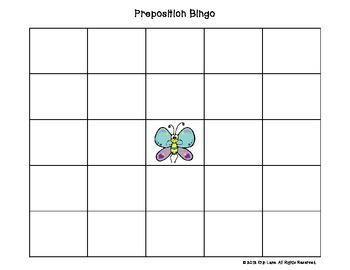 Prepositions Bingo!