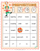 Prepositions Game - Prepositions BINGO