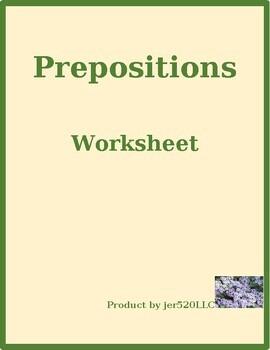 Prepositions Bookcase worksheet