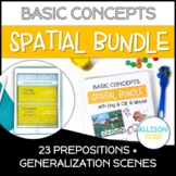 Prepositions Worksheets Bundle NO PREP Speech Therapy
