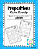 Prepositions Choice Boards