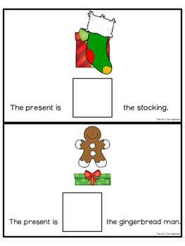 Prepositions- Christmas Themed Interactive Book- Where is the present?