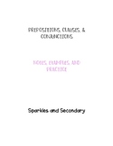 Prepositions, Clauses, and Phrases-- Guided Practice