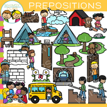 Preposition Clipart Teaching Resources