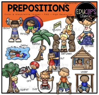 Prepositions Clip Art Bundle {Educlips Clipart}