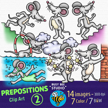 Prepositions Clip Art Set 2
