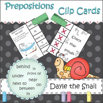 Prepositions Clip It Cards