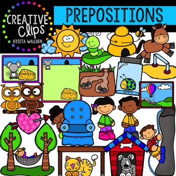 Prepositions Clipart {Creative Clips Digital Clipart}