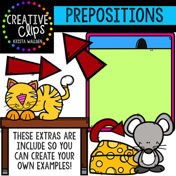 Prepositions Clipart {Creative Clips Digital Clipart}