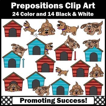 Prepositions Clipart Dogs and Doghouses ELA Commercial Use Images SPS