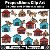 Prepositions Clipart, Doghouses and Dogs Clip Art, SPS