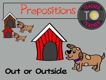 Prepositions Clipart - Common Core English Clipart {TeacherToTeacher Clipart}