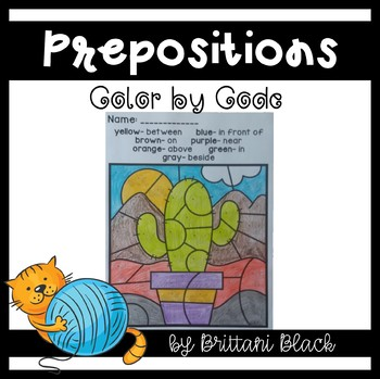 Prepositions- Color by Code