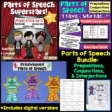Prepositions, Conjunctions and Interjections PowerPoint BUNDLE