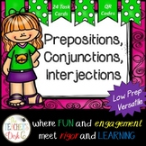 Prepositions, Conjunctions, Interjections Task Cards (with
