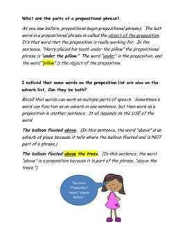 Grammar Worksheets - Prepositions, Conjunctions, Interjections