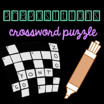 Prepositions Crossword Puzzle