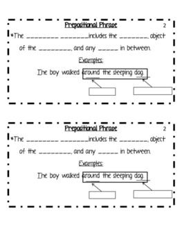 Prepositions Differentiated Interactive Notes