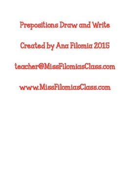 Prepositions Draw and Write