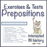 Prepositions ESL Exercises & Tests