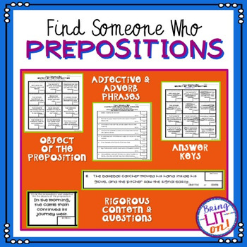 Prepositions - Find Someone Who