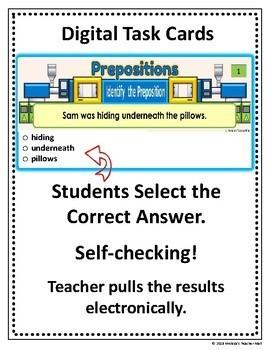 Prepositions Find the Preposition Google Classroom Digital