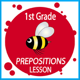 Preposition Activities + COMPLETE Lesson, COLOR Poster, Preposition Worksheet