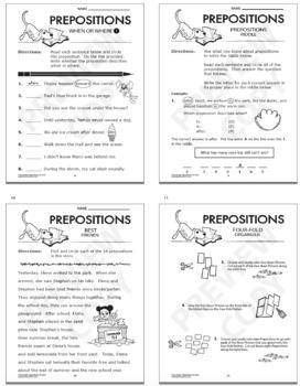 preposition activities 1st grade grammar practice lesson color ela poster. Black Bedroom Furniture Sets. Home Design Ideas