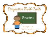 Prepositions Flash Cards: Locations